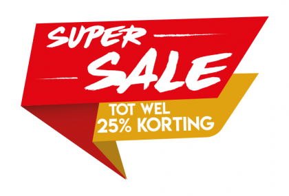 Super sale rood sticker