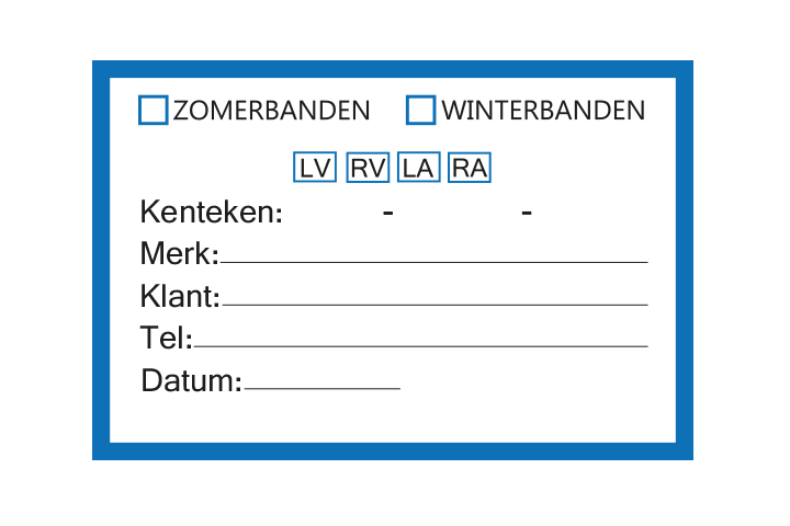 Controle stickers > Servicestickers > Winter/Zomerbanden stickers - Blauw