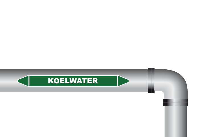 Koelwater sticker