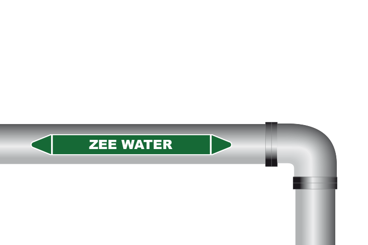 Zee water sticker