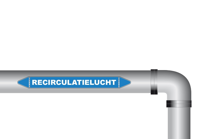 Recirculatielucht sticker