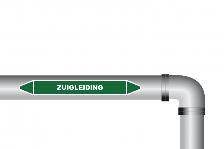 Leidingstickers - Zuigleiding sticker - PNG