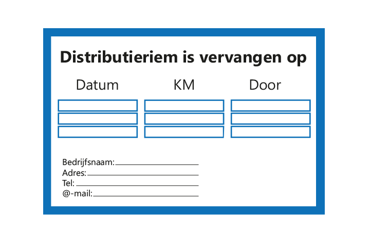 Stickers per Branche > Automotive > Distributieriem - Distributieriem 1 blauw