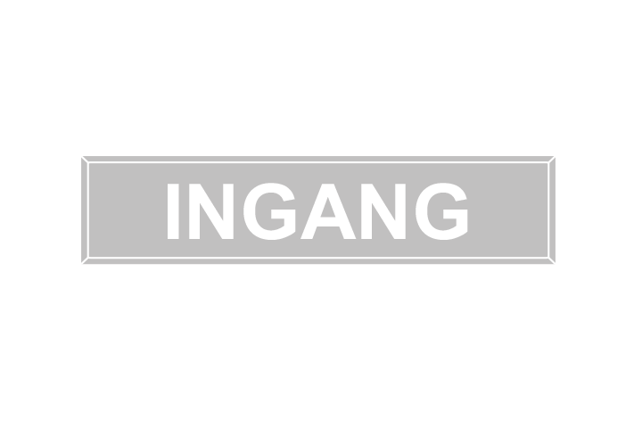Stickers per Branche > Kantoor stickers > Ingang stickers - Ingang 1 licht grijs