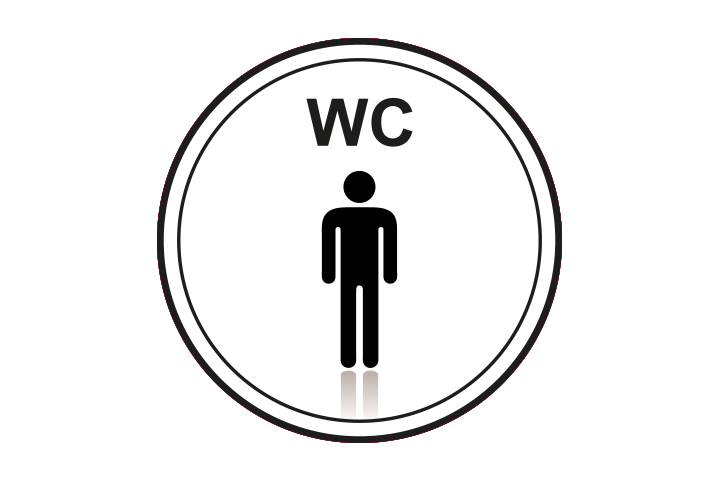 Stickers per Branche > Kantoor stickers > Toilet stickers - Heren Wc
