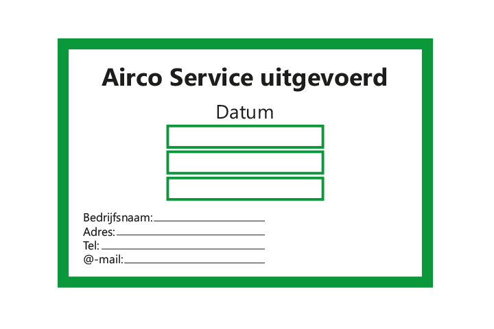Controle stickers > Servicestickers > Airco Service stickers - Groen