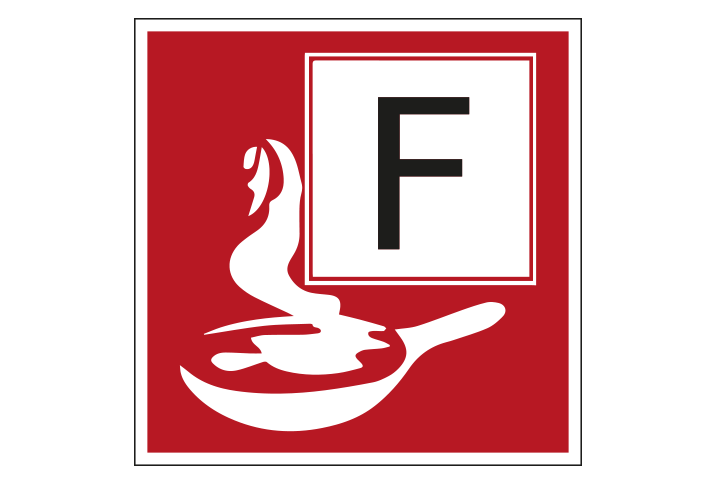 Brandklasse F pictogram