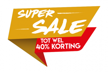 Super sale geel sticker
