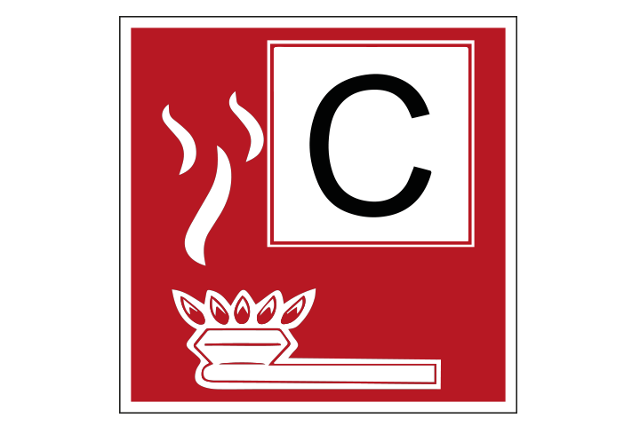 Brandklasse C pictogram