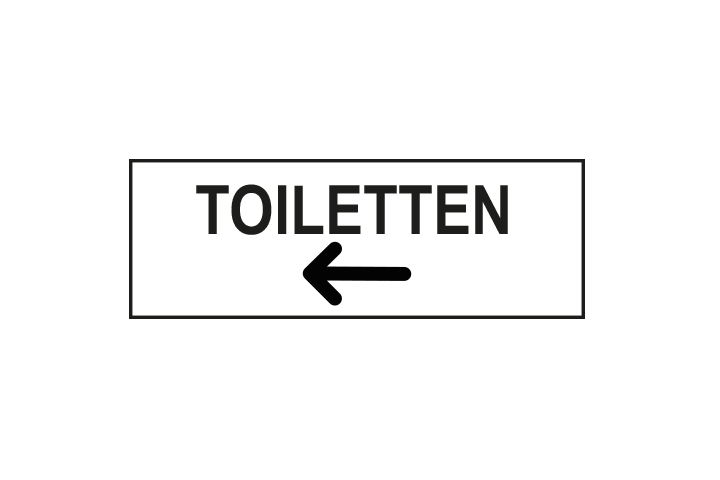 Stickers per Branche > Kantoor stickers > Toilet stickers - Toiletten links