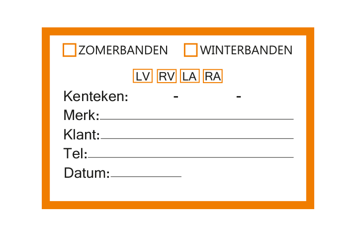 Controle stickers > Servicestickers > Winter/Zomerbanden stickers - Oranje