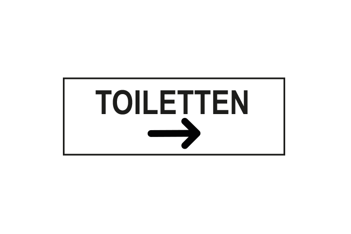 Stickers per Branche > Kantoor stickers > Toilet stickers - Toiletten rechts