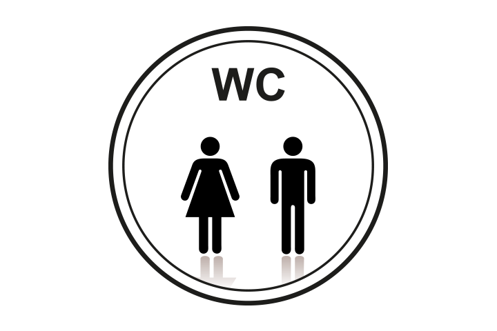 Stickers per Branche > Kantoor stickers > Toilet stickers - Algemeen toilet