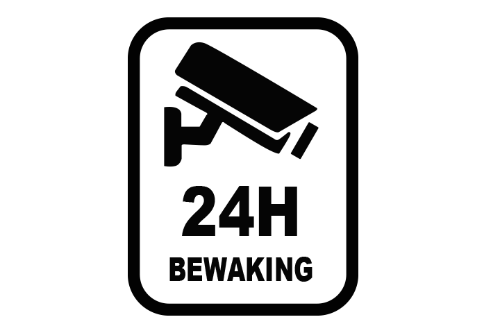 24 uur camerabewaking sticker