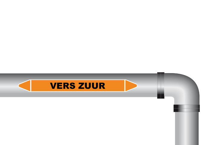 Vers zuur sticker