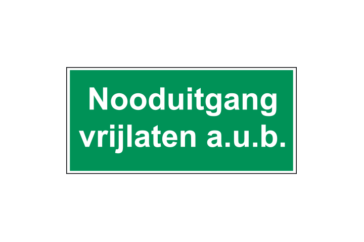 Nooduitgang vrijlaten - Business Stickers