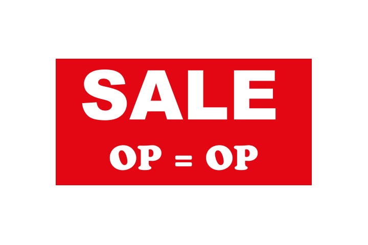 Stickers per Branche > Detailhandel > Sale en aanbieding stickers - Sale 1 rood