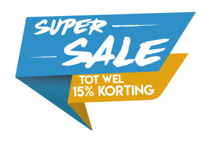 Super sale blauw sticker