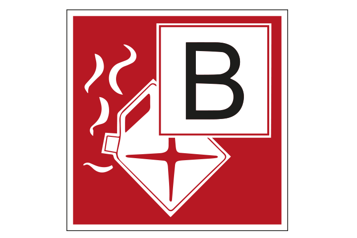 Brandklasse B pictogram