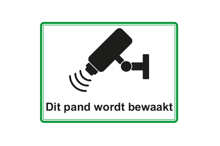 Stickers per Branche > Kantoor stickers > Camerabewaking stickers - Camerabewaking 1 groen