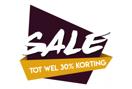 Sale sticker 30% paars