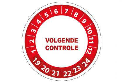 Volgende controle rood