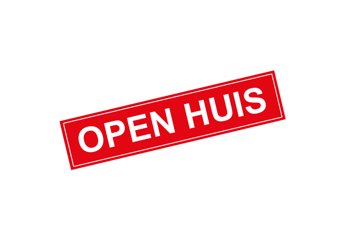 Stickers per Branche > Makelaarsstickers - Open huis sticker