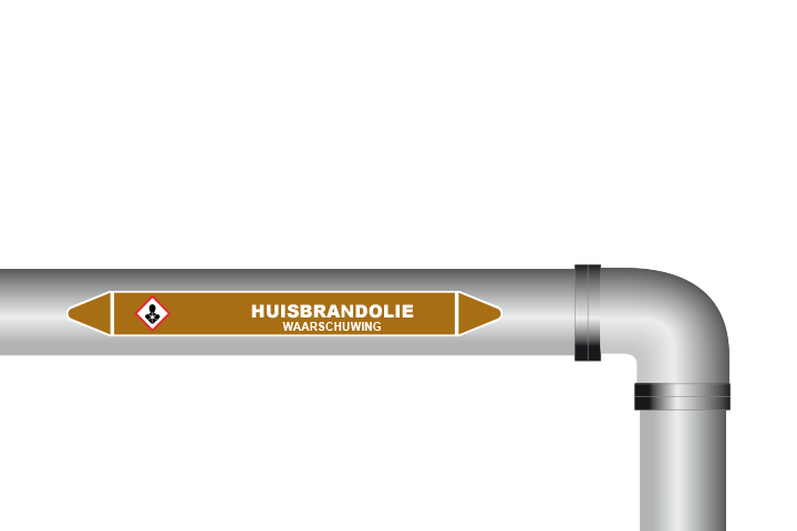 Huisbrandolie sticker