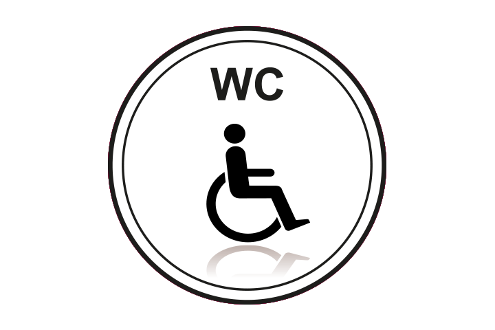 Stickers per Branche > Kantoor stickers > Toilet stickers - Invalidentoilet