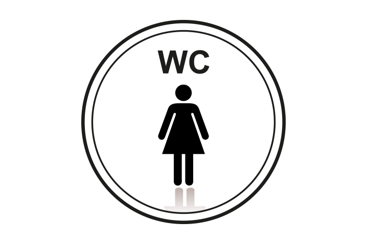 Stickers per Branche > Kantoor stickers > Toilet stickers - Dames Wc