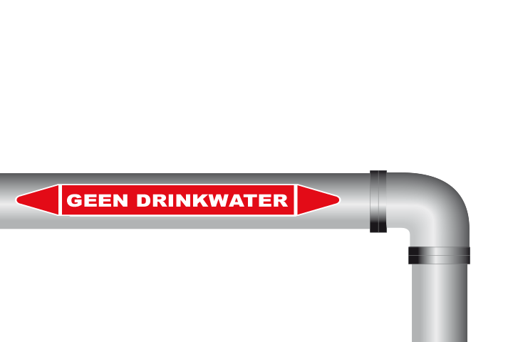 Geen drinkwater sticker