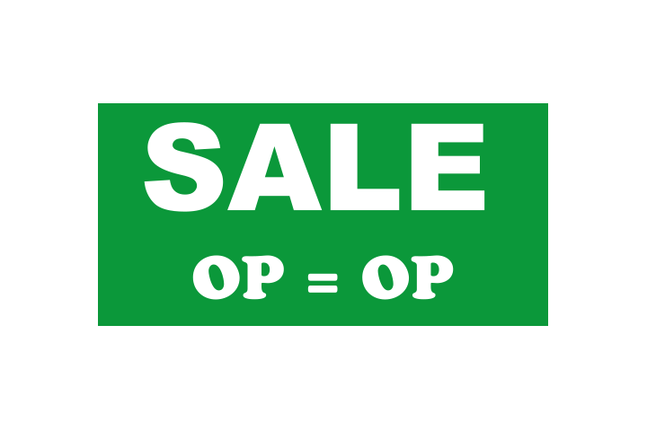 Stickers per Branche > Detailhandel > Sale en aanbieding stickers - Sale 1 groen