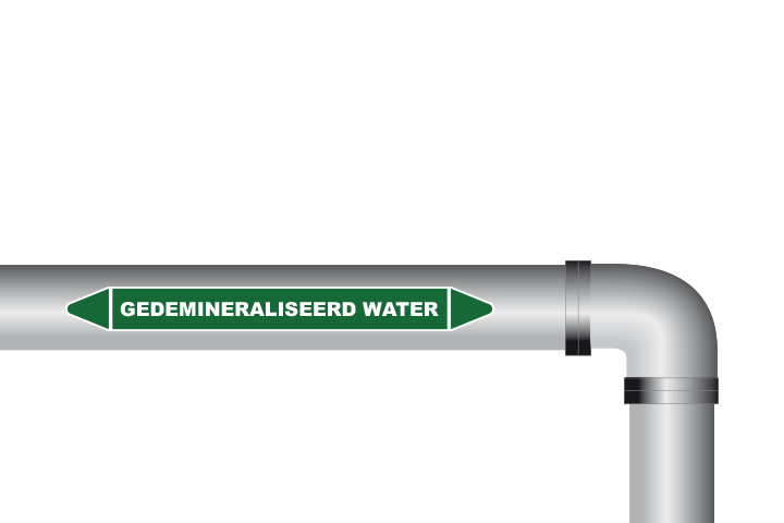 Gedemiraliseerd water sticker