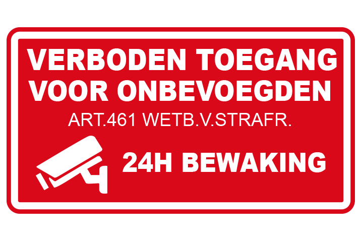 Verboden toegang sticker rood