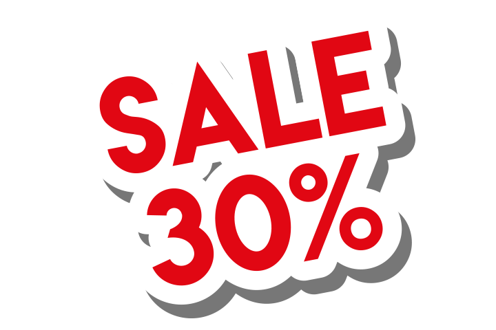 Sale 30% sticker