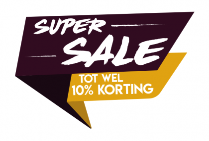 Super sale paars sticker