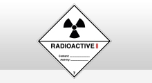 Transport stickers - Radioactive categorie 1 sticker