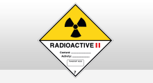 Transport stickers - Radioactive categorie 2 sticker