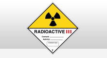 Transport stickers - Radioactive categorie 3 sticker