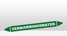 Water - Verwarmingswater sticker