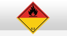 Transport stickers - Organische peroxiden sticker