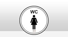 Toilet stickers - Dames Wc