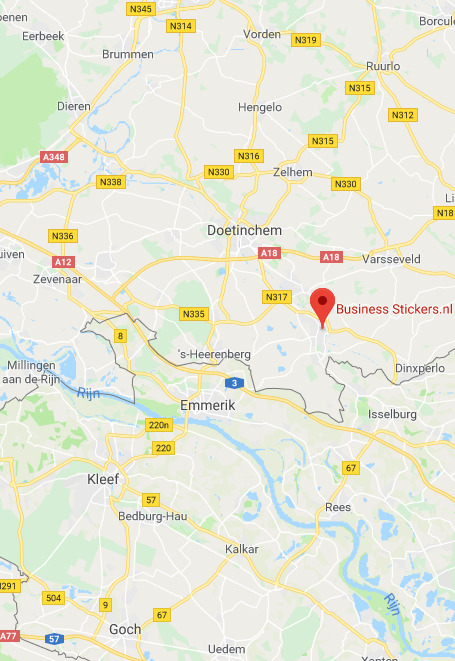 BusinessStickers locatie op Google Maps