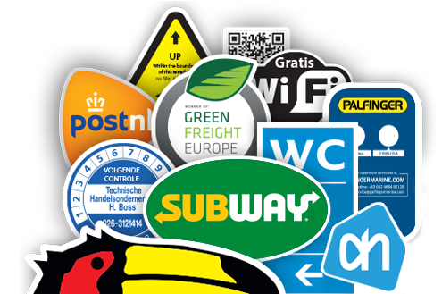 Business Stickers in beeld